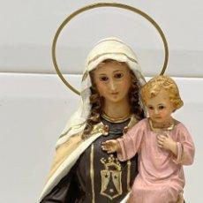 Antigüedades: ANTIGUA FIGURA RELIGIOSA OLOT VIRGEN DEL CARMEN. Lote 277155433