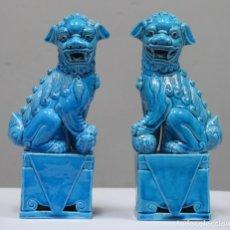 Antigüedades: PAREJA DE LEONES DE FOO. SIGLO XX. Lote 277155988