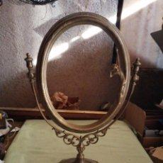 Antigüedades: MARCO DE BRONCE - ESPEJO. Lote 277178018