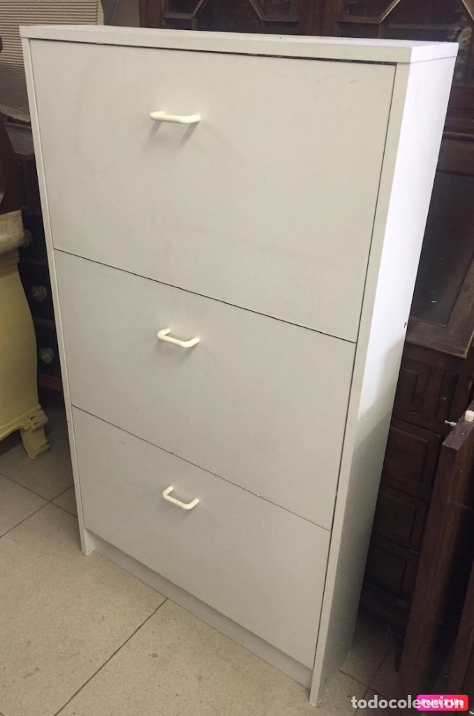 Antigüedades: Mueble zapatero con tres compartimentos - Vintage, años 80 - Foto 2 - 277188138