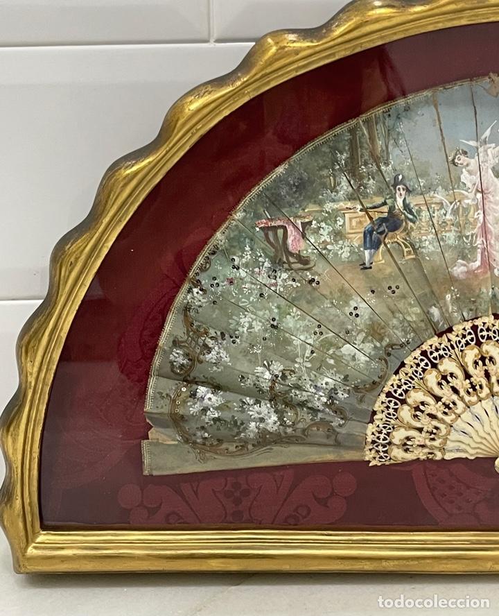 Antigüedades: ANTIGUO ABANICO ISABELINO HUESO CALADO SIGLO XIX - Foto 8 - 277198413