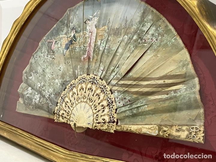 Antigüedades: ANTIGUO ABANICO ISABELINO HUESO CALADO SIGLO XIX - Foto 15 - 277198413
