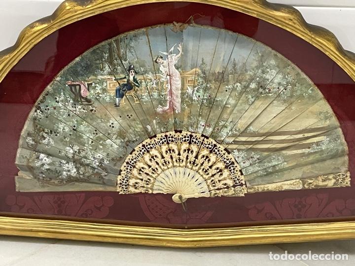 Antigüedades: ANTIGUO ABANICO ISABELINO HUESO CALADO SIGLO XIX - Foto 22 - 277198413