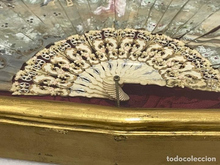 Antigüedades: ANTIGUO ABANICO ISABELINO HUESO CALADO SIGLO XIX - Foto 23 - 277198413