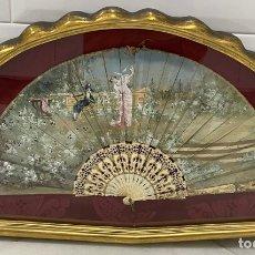 Antigüedades: ANTIGUO ABANICO ISABELINO HUESO CALADO SIGLO XIX. Lote 277198413