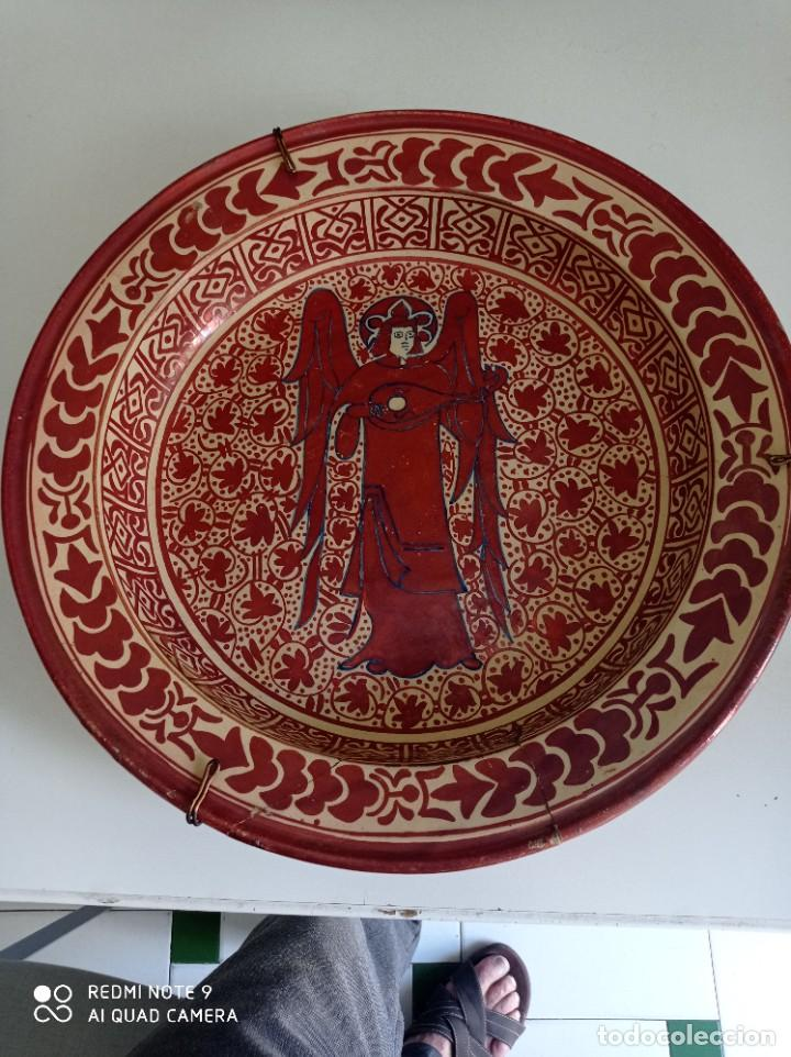 MANISES, SOBERBIO PLATO HONDO DE REFLEJOS SIGLO XIX, 43 CM DIÁMETRO (Antigüedades - Porcelanas y Cerámicas - Manises)