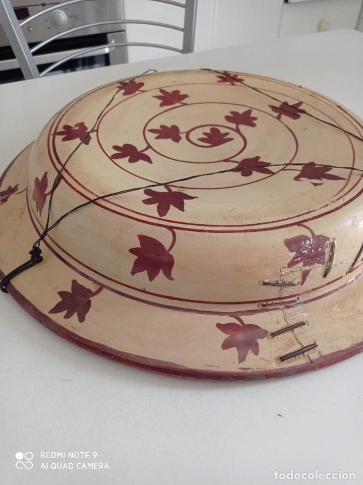 Antigüedades: Manises, soberbio plato hondo de reflejos Siglo XIX, 43 cm diámetro - Foto 12 - 277232923