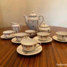 Antigüedades: JUEGO DE CAFÉ PORCELANA PPIOS SXX. Lote 277238583