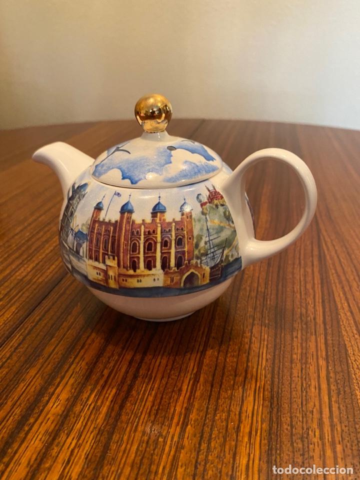 TETERA INGLESA LONDRES (Antigüedades - Porcelanas y Cerámicas - Otras)