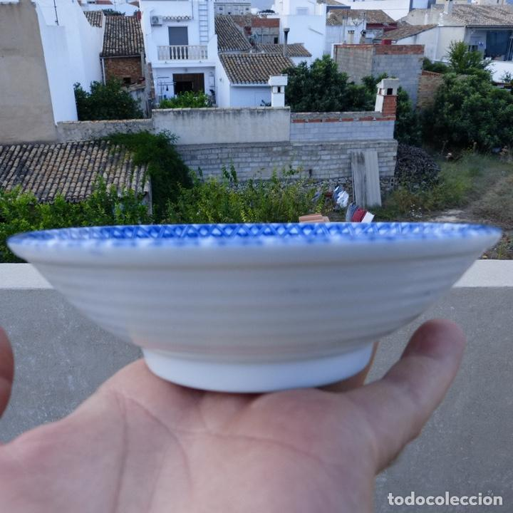 Antigüedades: Pequeño bol o cuenco de porcelana china en tonos azules y verde claro, - Foto 2 - 277283953