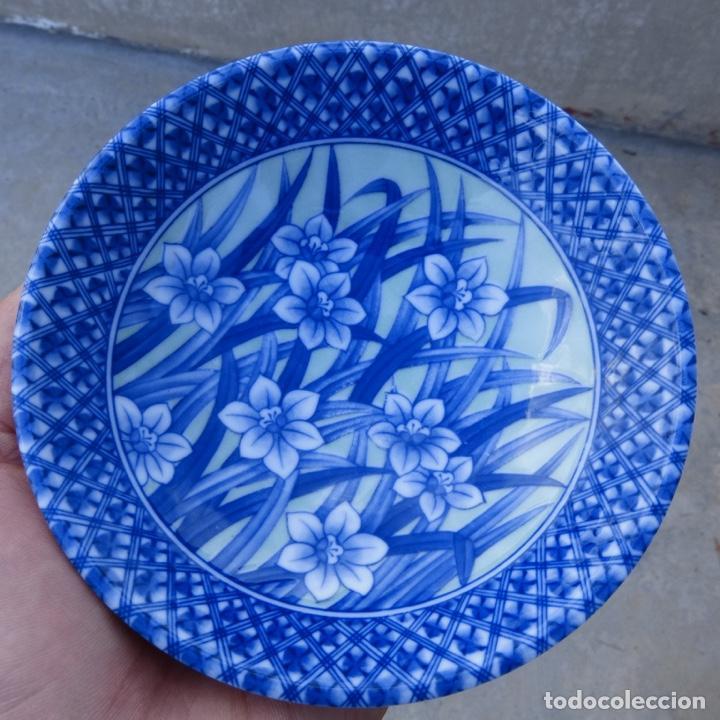 Antigüedades: Pequeño bol o cuenco de porcelana china en tonos azules y verde claro, - Foto 3 - 277283953