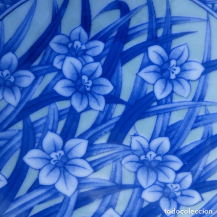 Antigüedades: Pequeño bol o cuenco de porcelana china en tonos azules y verde claro, - Foto 4 - 277283953