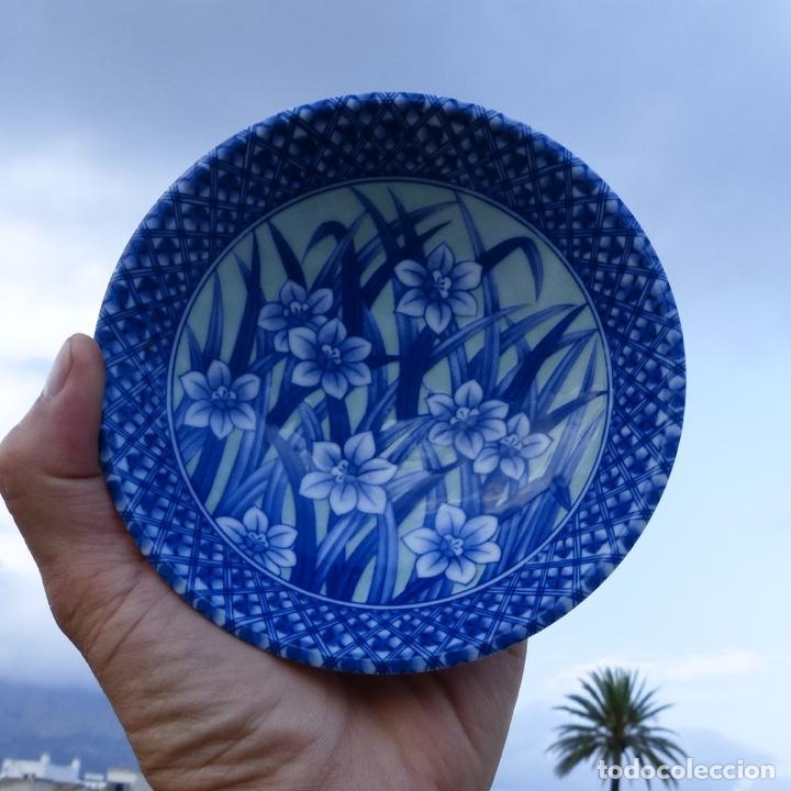 Antigüedades: Pequeño bol o cuenco de porcelana china en tonos azules y verde claro, - Foto 8 - 277283953