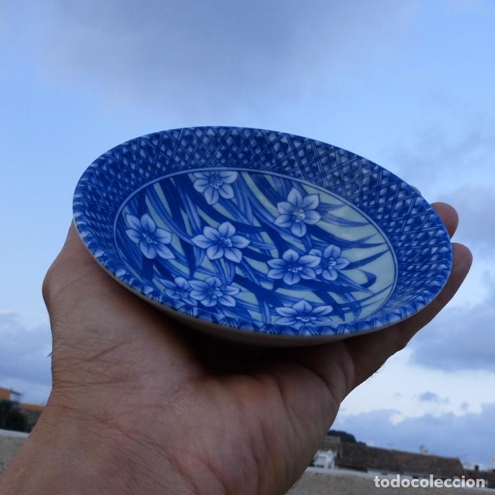 Antigüedades: Pequeño bol o cuenco de porcelana china en tonos azules y verde claro, - Foto 9 - 277283953