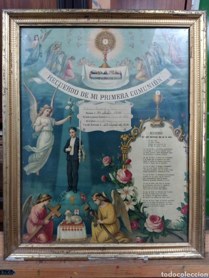 RECUERDO DE LA PRIMERA COMUNIÓN 1.901 (Antigüedades - Religiosas - Varios)