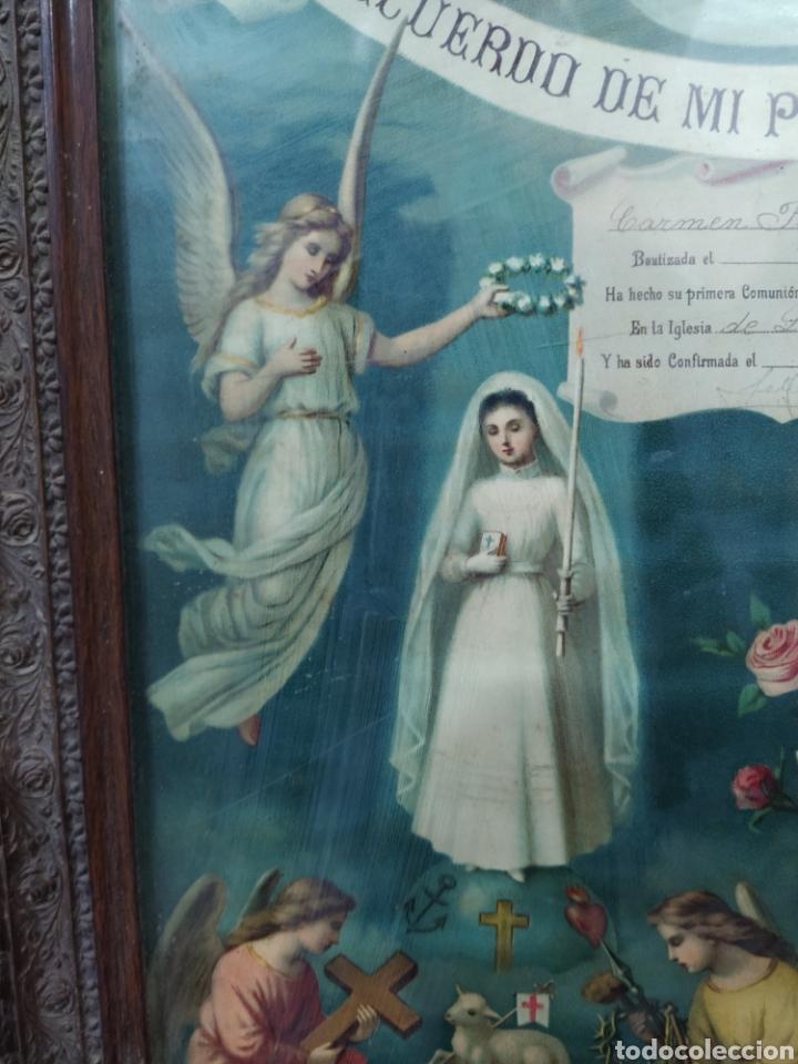 Antigüedades: Recuerdo de la primera comunión 1.904 - Foto 6 - 277297698