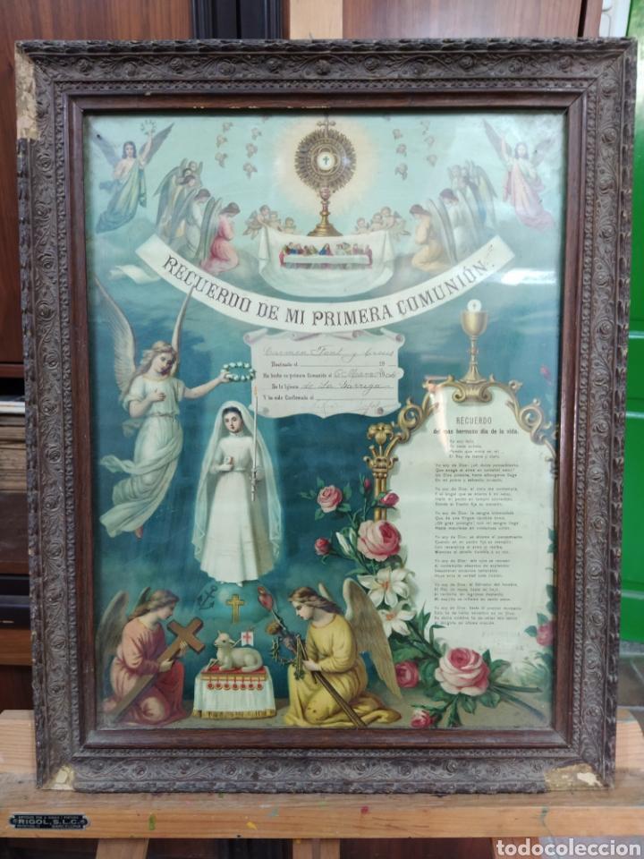 RECUERDO DE LA PRIMERA COMUNIÓN 1.904 (Antigüedades - Religiosas - Varios)