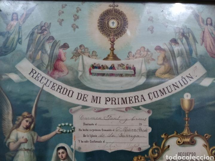 Antigüedades: Recuerdo de la primera comunión 1.904 - Foto 2 - 277297698