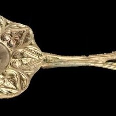 Antigüedades: ANTIGUA PALMATORIA NEOGÓTICA DE BRONCE. S. XIX.. Lote 277298853