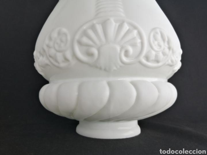 Antigüedades: Gran tulipa en opalina antigua para lámpara art deco - Foto 3 - 277300878