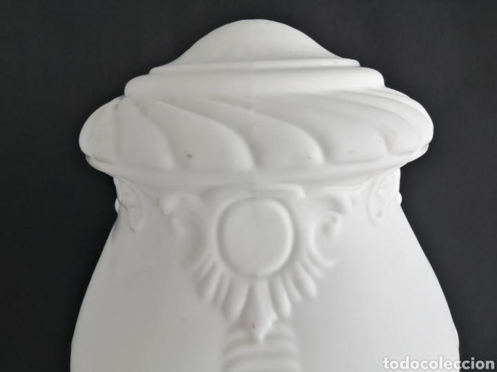 Antigüedades: Gran tulipa en opalina antigua para lámpara art deco - Foto 4 - 277300878