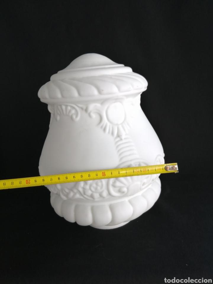 Antigüedades: Gran tulipa en opalina antigua para lámpara art deco - Foto 7 - 277300878