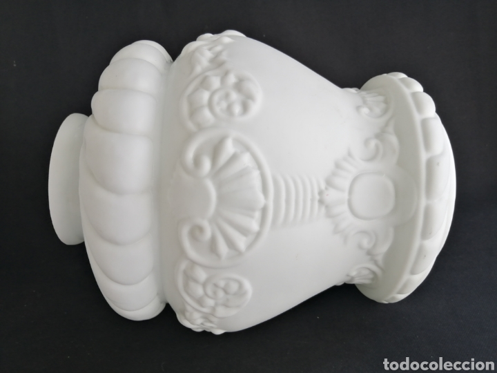 GRAN TULIPA EN OPALINA ANTIGUA PARA LÁMPARA ART DECO (Antigüedades - Iluminación - Lámparas Antiguas)