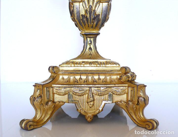 Antigüedades: EPOQUE EMPIRE PAIRE CANDELABRES BRONZE DORE XIX PAREJA DOS CANDELABROS EPOCA IMPERIO BRONCE MARMOL - Foto 6 - 277422778