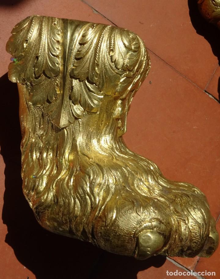 Antigüedades: Patas de Bronce Siglo XVIII - Foto 7 - 277433288