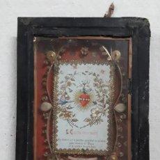 Antigüedades: RELICARIO CON 3 RELIQUIAS DEL SIGLO XVIII. Lote 44332564
