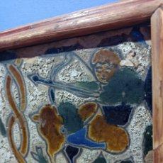 Antiquités: BONITO E INUSUAL AZULEJO TRIANA. POSIBLEMENTE SIGLO XVIII. CUERDA SECA.. Lote 277454413