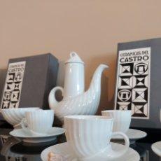 Antigüedades: JUEGO DE CAFÉ CERÁMICAS DEL CASTRO. A ESTRENAR!! CIRCA 1970. Lote 277458138