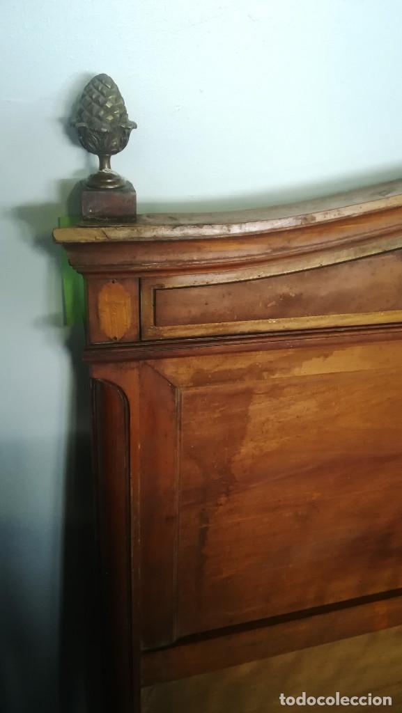 Antigüedades: CABECERO DE CAMA CON BISCUIT WEDGWOOD - Foto 4 - 192813047