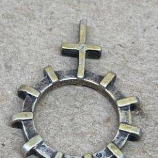 Antigüedades: ROSARIO DE DEDO DECENARIO METAL. Lote 277510358