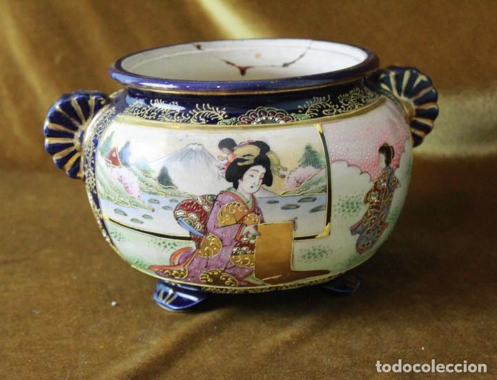 Antigüedades: Antiguo tibor o incensario de porcelana japonesa. Sello acreditativo. - Foto 4 - 277520008