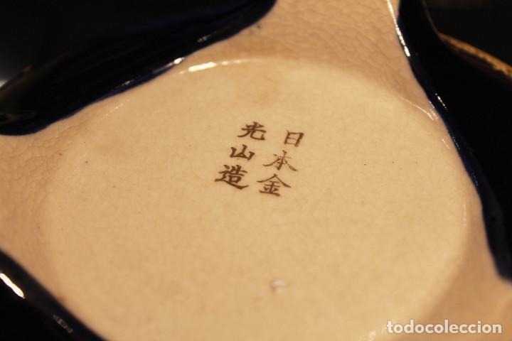 Antigüedades: Antiguo tibor o incensario de porcelana japonesa. Sello acreditativo. - Foto 9 - 277520008