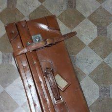Antigüedades: BAUL-MALETA ANTIGUA .CUERO. Lote 277523793