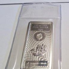 Antigüedades: LINGOTE 100 GRAMOS DE PLATA DE ISLAS COOK.PLATA PURA LEY 9999.PRECINTADO CON CERTIFICADO ORIGINAL.. Lote 277559303
