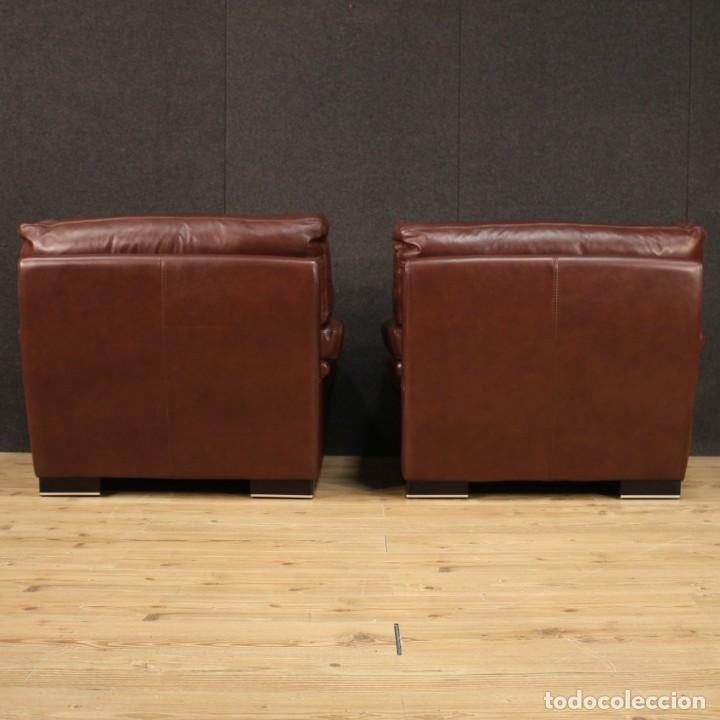 Antigüedades: Par de sillones italianos de cuero - Foto 8 - 277565843