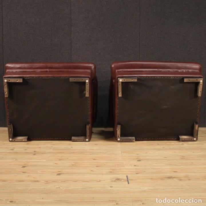 Antigüedades: Par de sillones italianos de cuero - Foto 10 - 277565843