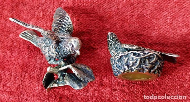 Antigüedades: PALOMAS. PLATA CINCELADA. ESPAÑA. SIGLO XIX-XX - Foto 2 - 277584663