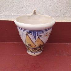 Antigüedades: ANTIGUA MACETA DE CERÁMICA DE TRIANA ( SEVILLA). Lote 277588353