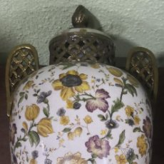 Antigüedades: PRECIOSO JARRÓN FRANCÉS FINAL S.XIX PORCELANA BRONCE. Lote 277593603