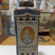 Antigüedades: ANTIGUA LATA TALQUERA DE LOS EEUU BORATED TALCUM DE MENNEN. Lote 277607648