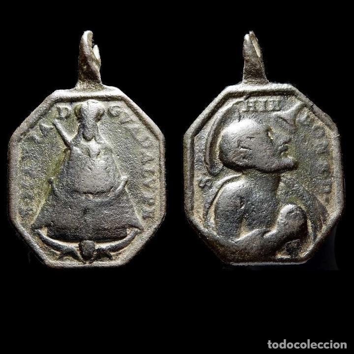 VIRGEN DE GUADALUPE Y S. JERÓNIMO EMILIANI, SIGLO XVIII. 1338-7,5-M (Antigüedades - Religiosas - Medallas Antiguas)