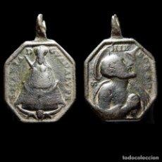 Antigüedades: VIRGEN DE GUADALUPE Y S. JERÓNIMO EMILIANI, SIGLO XVIII. 1338-7,5-M. Lote 277608968