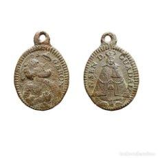 Antigüedades: VIRGEN DE GUADALUPE Y S. JERÓNIMO EMILIANI,SIGLO XVIII. 247-9-7,5-M. Lote 277609178
