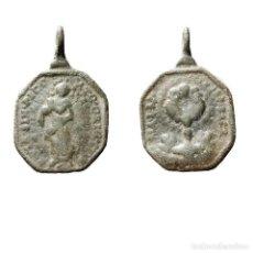 Antigüedades: MEDALLA RELIGIOSA EN METAL, SIGLO XVIII. 246-8-7,5-M. Lote 277609238
