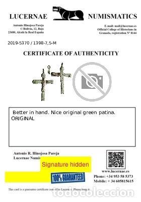 Antigüedades: Antiguo crucifijo en metal, siglo XVIII, 48 mm. 1398-7,5-M - Foto 2 - 277610588