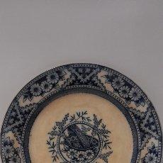 Antigüedades: ANTIGUO PLATO DE CERAMICA MORESQUE. Lote 277616573